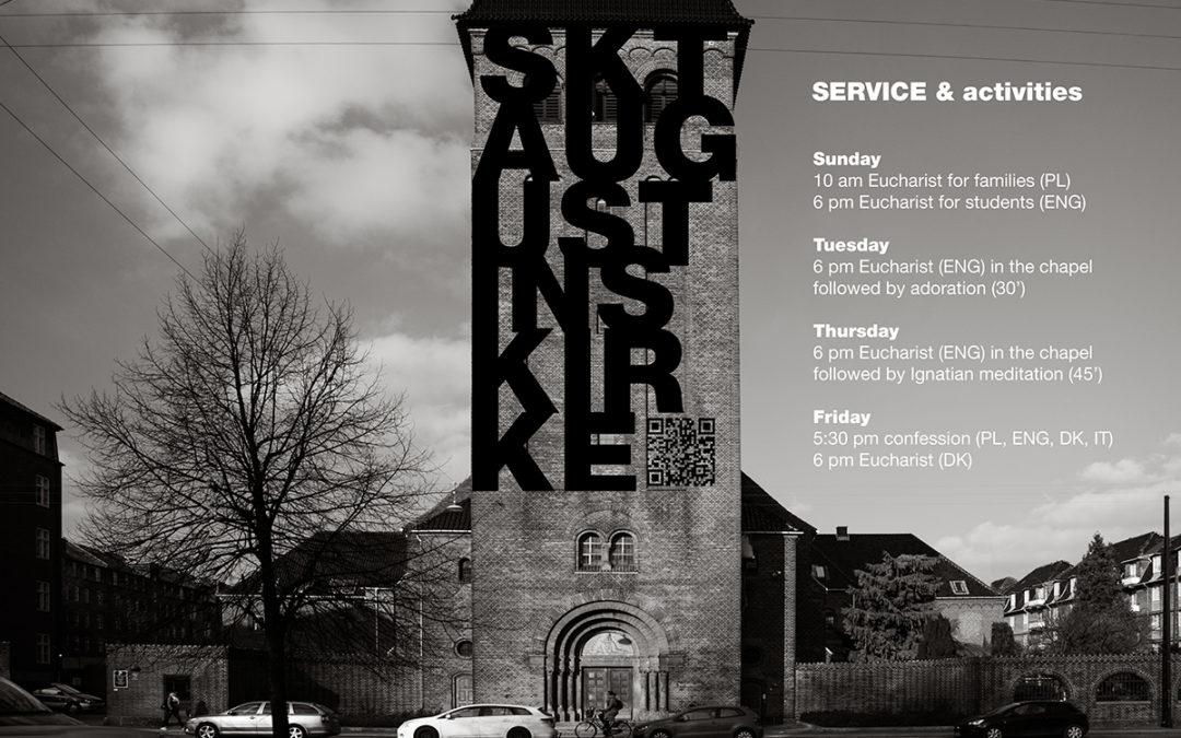 Sankt Augustins Kirke – service & activities